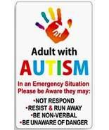 Adult with autism vinyl sticker thumbtall