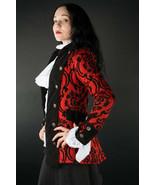 Crimson Red Brocade Gothic Victorian Jacket Steampunk Short Pirate Princ... - $119.99