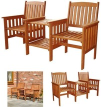 Wood Garden Bench Love Seat 2 Seater Companion Set Patio Chair Outdoor F... - $184.92