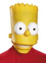 Bart Simpson Mask Adult Cartoon Character Yellow Head Vinyl Halloween DG... - $46.99