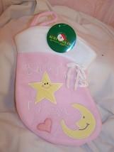 Christmas Stocking Baby Girl Babys First Fireplace Santa Stockings Plush... - $2.99