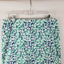 Ann Taylor Madison Pencil Skirt Purple White Turquoise Print Women's Siz... - $7.87