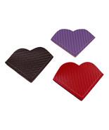 Heart Bookmark Carbon Fiber Vinyl Black Red Purple Set of 3 Corner Bookmark - $10.00