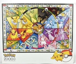 POKEMON Buffalo Games- Eevee's Stained Glass 2000 Pc Jigsaw Puzzle 38.5 ... - $39.34