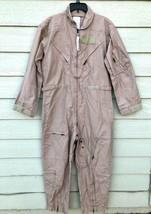 Nwt Genuine Us Air Force Tan Nomex Fire Resistant Flight Suit CWU-27/P - 44R. - $123.75