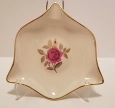 Lovely Lenox Pink & Gold Rhodora Rose Porcelain Triangle Cigar Ashtray U... - $9.70