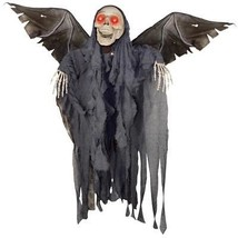 Winged Reaper Prop Animated Decor Halloween Haunted House Scary Creepy S... - £66.63 GBP