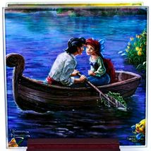 Thomas Kinkade Disney's Little Mermaid Prints 4 Piece Fused Glass Coaster Set image 4
