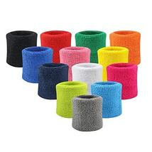 An item in the Everything Else category: NEW! SWEATBAND SET Excercise Wristbands Sweatbands Tennis Wrist Sweat Bands Numb