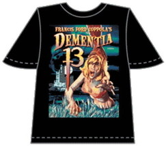 Francis Ford Coppola's Dementia 13 Movie Poster T-Shirt Size LARGE, NEW ... - $14.50