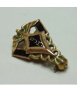 10K Yellow Gold Jewelry Pin Medical SJH Small Onyx Inlay Scrap? - $69.40
