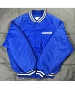 VTG King Louie Blue Norfolk Southern Railroad Nylon Bomber Style Jacket ... - $44.05