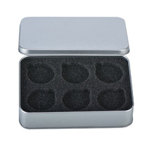 WR Coin Tin Silver Case Display Box Storage Holder for 6 40mm Coins Collect Item image 1