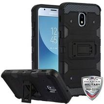 Black Storm Tank Hybrid Case Cover for SAMSUNG Galaxy J3 V 2018/Star/Ach... - $12.23
