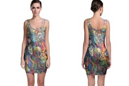 Trippy Ilumination Women's Sleevless Bodycon Dress - $21.80+