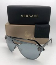 Versace Gafas de Sol Ve 2161 1001 / 1U Rutenio Escudo W/ Azul-Gris + Espejo - $280.80