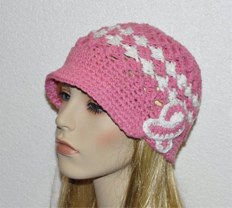 Breast Cancer Awareness hat, Cancer hat, Chemo Cap, Breast Cancer Hat