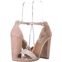 Steve Madden Carrson Ankle Strap Dress Sandals 338, Rhinestone, 9.5 US - $29.75