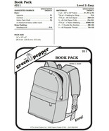 Book Bag Back Pack #211 Sewing Pattern (Pattern Only) gp211 - $6.00