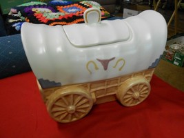 """Great Collectable COVERED """"Conestoga""""Chuck Wagon COOKIE JAR........SALE - $21.78"""
