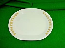 "Vintage 1970's Mid-Century Corelle Butterfly Gold Serving Platter ~ 10"" ... - $13.60"