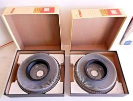 2x Lot Kodak Ektagraphic Universal Slide Tray Model 2 Tray w/ box 35mm 140 Slide - $15.83