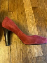 Lauren Ralph Lauren Womens Suede Round Toe Pumps Red Size 7.5 - $15.48