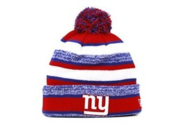 York Giants 2014 On Field Sport Cuffed Pom Knit Beanie Hat/Cap - $45.55