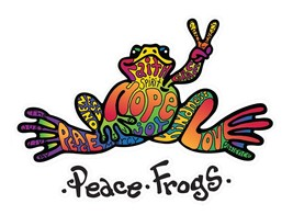 Enjoy It Peace Frogs Hope Peace Frogs Car Sticker Outdoor Rated Vinyl St... - $11.65