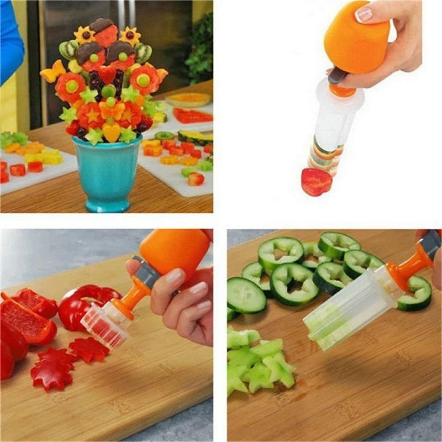 Fruits Carving Vegetables Salad Smoothie Cake Tools Kitchen Cooking Accessories