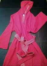 Old Navy Intimates Womens Bathrobe Robe Size Large Hooded Hood Red Pocke... - $30.92