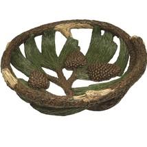 Rivers Edge Pine Cone Fruit Bowl 12in Diameter - $45.06