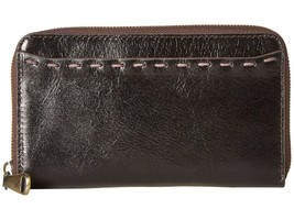 Hobo The Original Leather Honor Zip Around Compact Clutch Wallet Black - $84.10