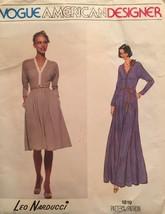Vintage Vogue American Designer Leo Narducci Size 12 Pattern 1819 UC/FF - $24.75