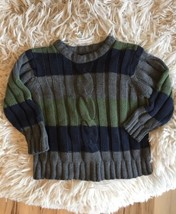 Childrens Place Sweater Pullover Boys 4 XS Gray Striped Long Sleeve - $9.99