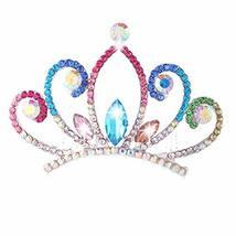 Elegant Bridal Headdress Crystal Crown Plate Hair Comb