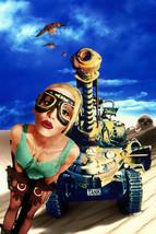 Lori Petty Tank Girl Art Green Vest Shorts Goggles 18x24 Poster - $23.99