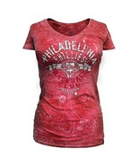 MLB  Woman's  Philadelphia Phillies Distressed Tee L XL Officially Licen... - $15.99
