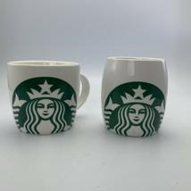 Starbucks Coffee Mug 14 oz Mermaid White Green Logo Set of 2 - 2007 - $10.88