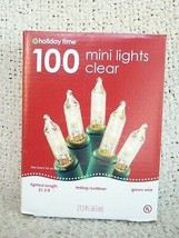 Set of 2: Holiday Time 100 Clear Mini Lights, Green Wire - $16.83