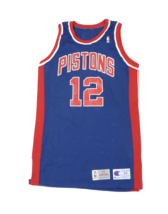 Vtg Champion NBA Detroit Pistons David Wood Player Issued Jersey 93/94 B... - $252.41