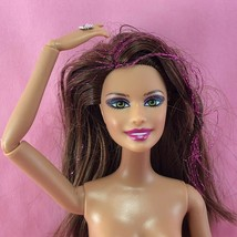 Barbie 2013 FASHIONISTA RAINBOW TERESA Nude Articulated Glitter Hair Dol... - $12.00