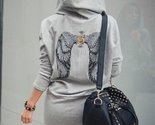 Dress for less sweatshirt dress wing printed hooded sweatshirt dress 1233113153567 thumb155 crop