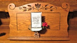 """Awesome Glass Plaque with Mirror Figurine """"Bless our Home with Love/Laug... - $14.95"""