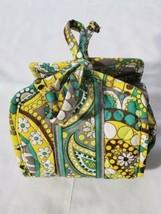 Vera Bradley Lemon Parfait Paisley Jewelry Roll All Wrapped Up Travel Case  - $16.78