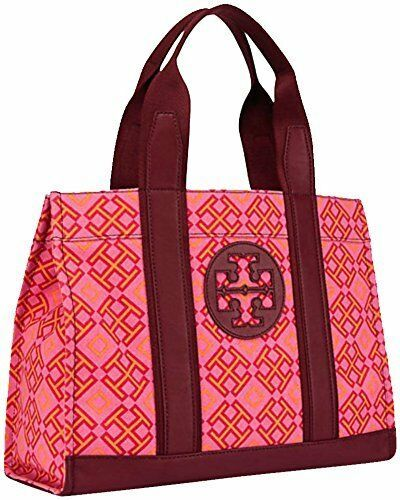 Tory Burch 4T Printed Canvas Tote. Women's Handbag (Honeysuckle)