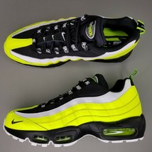Nike Air Max 95 PRM Athletic Shoes Mens Size 9.5 Leather Volt Glow Black... - $116.86