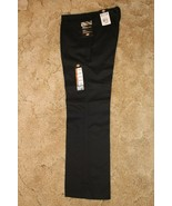 Dickies Girl's Wide Band Stretch Fabric Classic Fit Sz 11RG Black Pants ... - $14.80