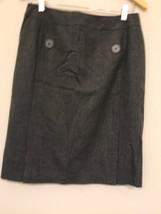 Talbots Womens 10 Seasonless Wool Pencil Skirt Gray Pockets stretch - $19.79