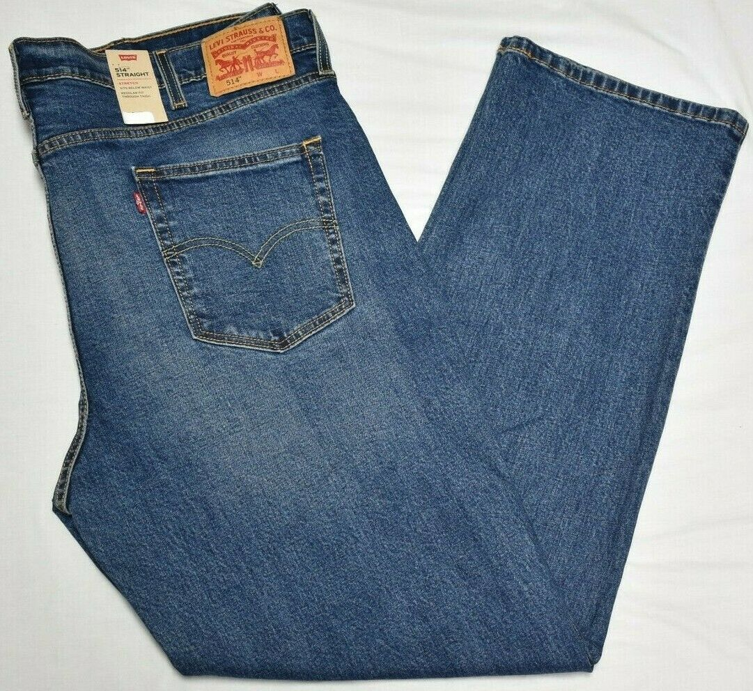Primary image for Levi's Jeans Men's 514 Straight Fit 5-Pocket Stretch Denim Rooster Wash B&T P389